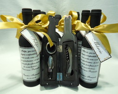 Lembran�a padrinhos kit vinho 03 p� D