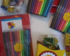 KIT Lego + Colorir Personalizado