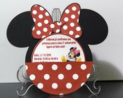 Convite Minnie cabe�a