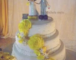 topo de bolo casamento em eva