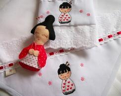 Kit fralda e toalha - Kokeshi