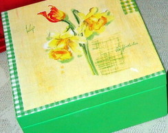 Caixa de ch� com tulipa