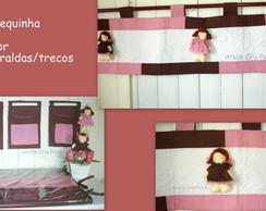 Kit Beb� Boneca Marrom com Rosa