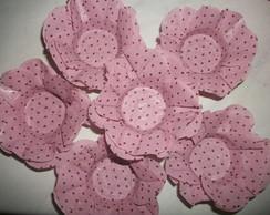 Forma de doces finos flor rosa chanel