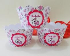 Wrapper para Cupcake Tema Gatinha Marie