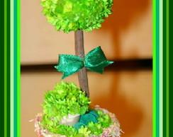 Topiara de Flor Sempre Viva Verde Mini