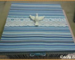 caixa convite padrinhos de batizado.