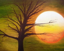 """Painel """"P�r do sol"""""""