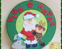 Guirlanda Papai Noel e sua Rena