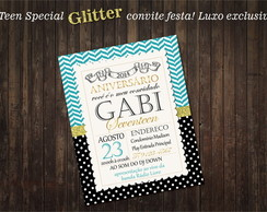 Convite Personalizado Teen Party Glitter