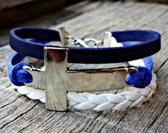 Pulseira Cruz Holly Azul