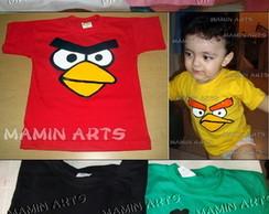 Camiseta Infantil e Beb� Angry Birds