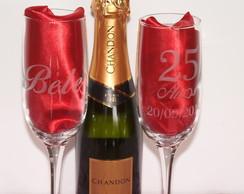 Ta�a de champagne para bodas jateada