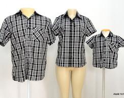 Kit Camisas Pai, M�e e Filho