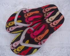 Sand�lias com Tecido Coloridas