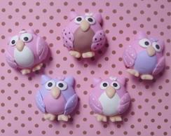 Aplique corujas em biscuit