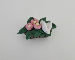 mini floreira em biscuit-pt entrega