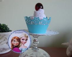 cupcake de toalha - Frozen