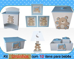 kit higiene Quarto Beb� Ursos -10 Pe�as