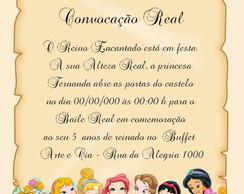 Convite Pergaminho Princesas Disney Baby