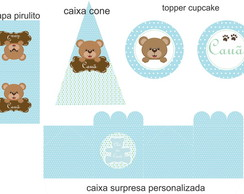kit digital ch� de bebe ursinho