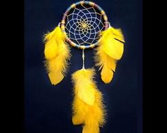 Filtro dos Sonhos Colorido Penas Amarelo