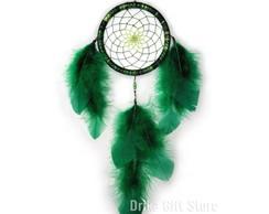Filtro dos Sonhos Verde e Teia Mesclada