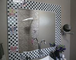 Painel espelho xadrez borboleta