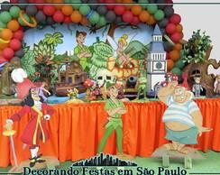 Decora��o Mesa Peter Pan e Sininho