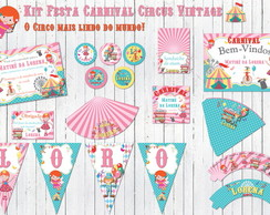 Carnival Party Kit Circus Vintage Retro