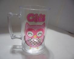 Caneca 500ml Corujinha (pink-sozinha)