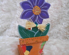 Porta Rolo Papel Toalha - Flor no vaso