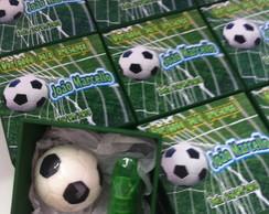 Caixa futebol com sabonetes