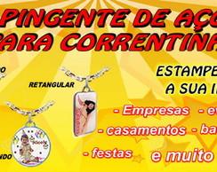 PINGENTE DE A�O INOX PARA CORRENTINHA