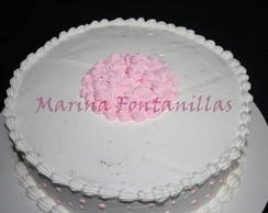 Bolo decorado com Chantilly ou Glac�