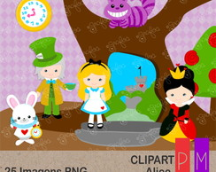 Kit Scrap Digital Alice Clipart