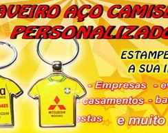 CHAVEIRO CAMISETA 2 ESTAMPAS - A�O