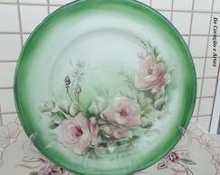 Pratos de porcelana pintados � m�o (3)