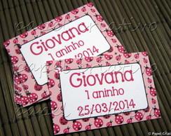 Tag Lembrancinha - Joaninha Pink