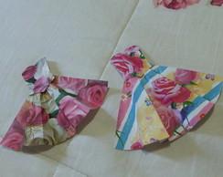 Apliques vestidos de papel