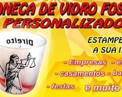 CANECA DE VIDRO FOSCO PERSONALIZADA
