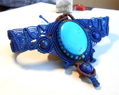 Bracelete Macrame Turquesa L�pis L�zuli