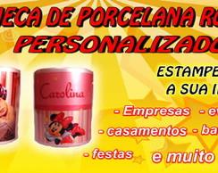 CANECA DE PORCELANA ROSA