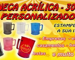 CANECA ACR�LICA DE CHOPP - 300 ml