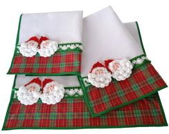 Kit 3 Panos Natal Papai Noel de Croch�