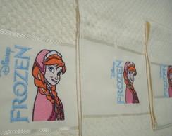 Kit 3 toalhas: Frozen e nome
