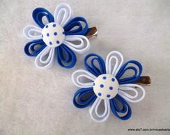 Par De Bico De Pato Azul e Branco