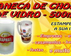 CANECA DE CHOPP PERSONALIZADA - VIDRO