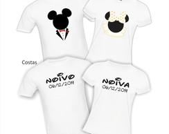 Kit Camisetas Mickey e Minnie Noivos
