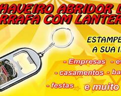 CHAVEIRO ABRIDOR DE GARRAFA COM LANTERNA